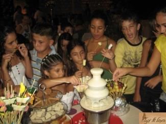 מפל שוקולד לימי הולדת
