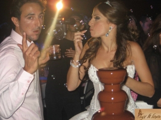 מפל שוקולד בחתונה