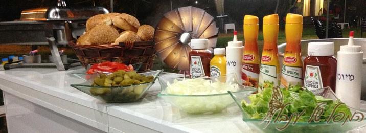 בר המבורגר / דוכן המבורגר / מיני המבורגר